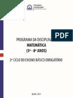 Programa de Matemática Ensino Básico 5º a 8º Anos _ Versão Experimental.pdf