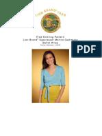 Knit Pattern Ballet Wrap L10473