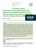 Correlation of secondary school personnel's extent of agreement of the physical vulnerabilities and their level of disaster preparedness in the congressional district I of Negros Oriental, Philippines