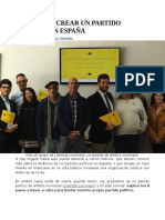 Cómo crear un partido político en España