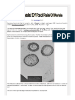 Analysis of Red Rain of Kerala