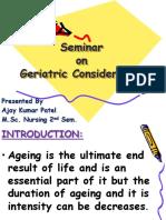 Geriatric Consideration