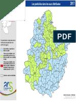 La carte de la qualité de l'eau potable en Sarthe