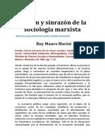 Razón y Sinrazón de La Sociología Marxista