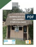 Casas Maternas- Barreras de Acceso