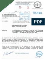 Oficio-001-2019-SITOBUR CONFIRMA REUNION CON REPRESENTANTES DE LA MUNICIPALIDAD DE LIMA