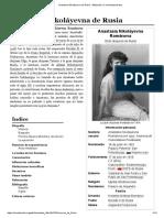 Anastasia Nikoláyevna de Rusia - Wikipedia, La Enciclopedia Libre