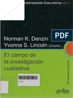 El Campo de La Investigación Cualitativa. Norman K. Denzin e Yvonna S. Lincoln (coords.)