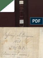 Lino de Pombo, Informe Del Congreso 1838