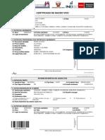 Modelo de Certificado de Recien Nacido