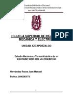 Estudio Mecánico y Termohidráulico de un Calentador Solar para uso Residencial.docx