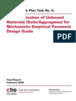 Iowa DOT InTrans MEPDG Task 5 Unbound Materials