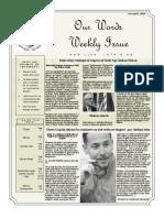 Newsletter Volume 10 Issue 01