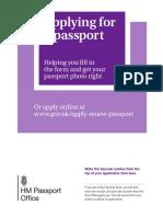 Brtish Passport Guidance Booklet
