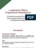 Programación Meta o Programación Multiobjetivos