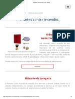 Hidrantes Contra Incendio - InD. LEMER