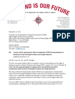 UBCIC letter to UN Committee on the Elimination of Racial Discrimination