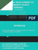 Historical Development of Community Health