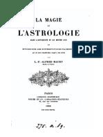 L.-F. Alfred Maury, La magie et l'astrologie dans l'antiquité et au moyen age...Paris 1860