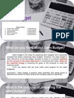 1.Sales Budget