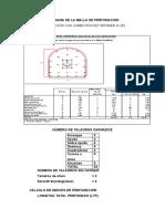 Diagrama de La Malla de Perforación