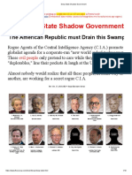 The Deep State or Shadow government