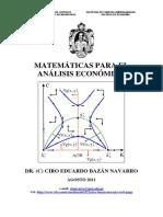 Matematicas Para El Analisis Economico Ciro Bazan