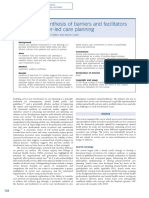 Systematic Synthesis of Barriers and Facilitators to Service Userled Care Planning
