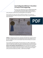 Is Your Certificate Fading Into Oblivion? 5 Excellent tips to keep it from happening.