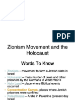 Zionism Movement and the Holocaust1