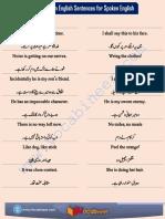 50 Common English Sentences