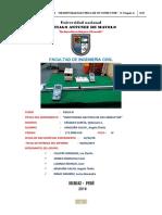 INFORME DE LABORATORIO FÍSICA III RESISTIVIDAD ELÉCTRICA