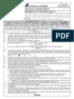 Prova 1 - Gab 1 - Técnico Bancário - Basa - Banco da Amazonia