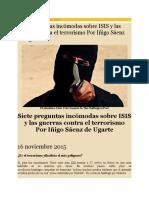 01 Siete Preguntas Incómodas Sobre ISIS y Las Guerras Contra El Terrorismo 16-11-15