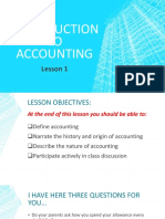 Lesson 1- Introduction to Accounting