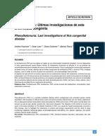 articulo sobre fenilcetonuria