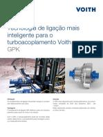 Tecnologia de ligação mais inteligente para o turboacoplamento Voith. GPK