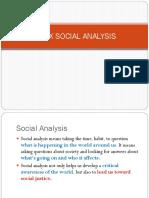 Marx Social Analysis