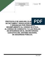 Protocolo de análisis y denuncia