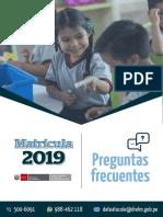 BIAE Matricula Año Escolar 2019