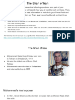 the shah of iran  1st period