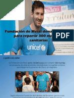 Leopoldo Lares Sultán - Fundación de Messi dona € 100.000 para repartir 300 mochilas sanitarias