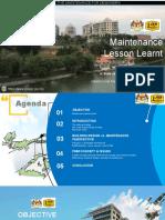 Maintenance Lesson Learnt_05Sept2018