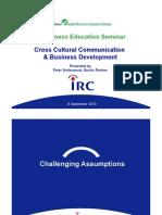 Cross-Cultural Communication & Business Development-8 Sept 2010 SGBSC PAU