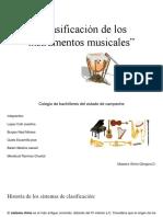 """""""Clasificación de Los Instrumentos Musicales"""" (1)"""