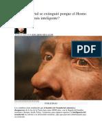 El Neandertal Se Extinguió Porque El Homo Sapiens Era Más Inteligente