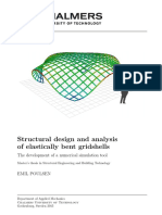 Structural design and analysis of elastically bent gridshells ( EMU )
