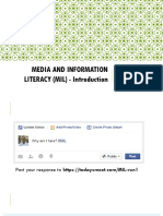 1 - Introduction to Media and Information Literacy
