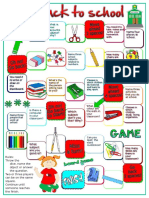Back to School Board Game Fun Activities