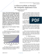 The Analysis of Perceived Risk on Purchase Intentions on the Tokopedia Application Users